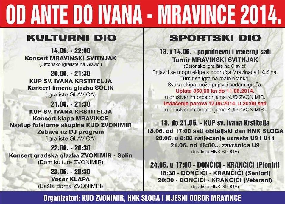 Od Ante do Ivana (Mravince 2014)