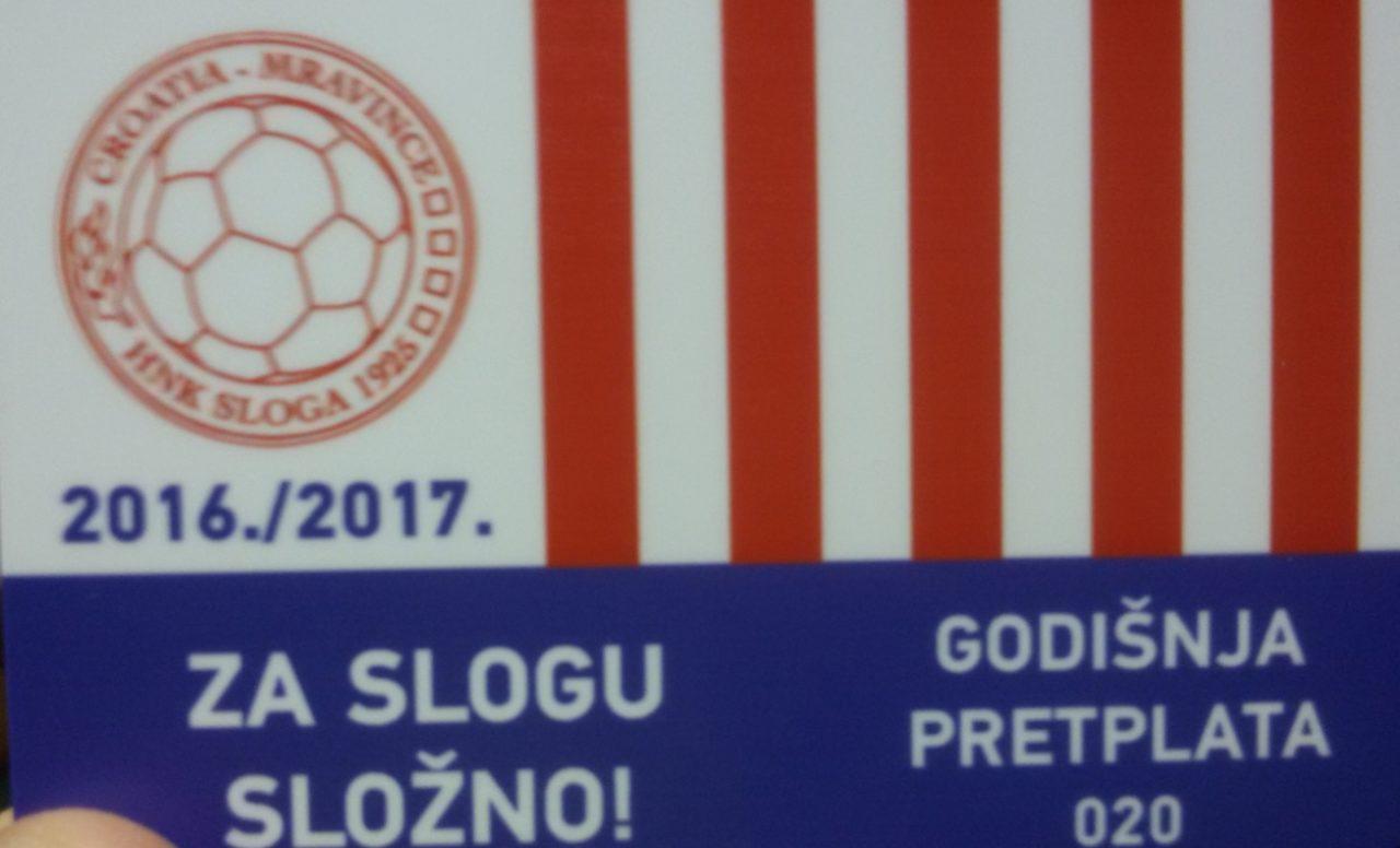 Članska iskaznica HNK Sloga 2016-2017 1-ŽNL Split